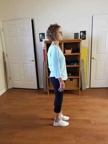 Woman Demonstrating Improved Standing Posture